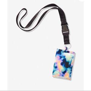 🍭VS PINK Oil Spill Tie Dye Wallet Lanyard